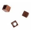 Metal Bead Cube 4X4x4 Antique Copper with 2.6mm hole